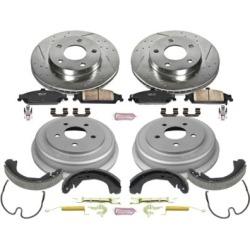2004-2005 Chevrolet Malibu Brake Disc And Drum Kit Powerstop Chevrolet Brake Disc And Drum Kit K15162DK