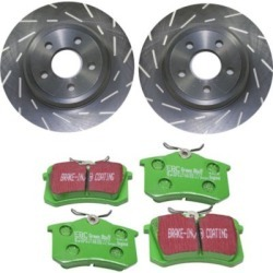 2002-2004 Audi A6 Quattro Brake Disc and Pad Kit EBC Audi Brake Disc and Pad Kit S2KR2037 found on Bargain Bro Philippines from autopartswarehouse.com for $223.10