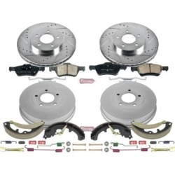 2011-2012 Ford Escape Brake Disc And Drum Kit Powerstop Ford Brake Disc And Drum Kit K15257DK