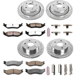 2002 Dodge Ram 1500 Brake Disc and Pad Kit Powerstop Dodge Brake Disc and Pad Kit K2166-36 found on Bargain Bro India from autopartswarehouse.com for $411.82
