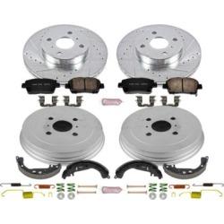 2001-2003 Toyota Prius Brake Disc And Drum Kit Powerstop Toyota Brake Disc And Drum Kit K15201DK