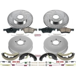 2011-2012 Ford Escape Brake Disc And Drum Kit Powerstop Ford Brake Disc And Drum Kit K15258DK