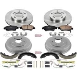 2006-2008 Honda Civic Brake Disc And Drum Kit Powerstop Honda Brake Disc And Drum Kit KOE15110DK