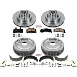 1998-1999 Chevrolet Tahoe Brake Disc And Drum Kit Powerstop Chevrolet Brake Disc And Drum Kit KOE15038DK