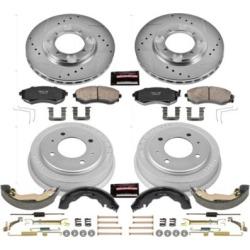 1997 Hyundai Elantra Brake Disc And Drum Kit Powerstop Hyundai Brake Disc And Drum Kit K15156DK