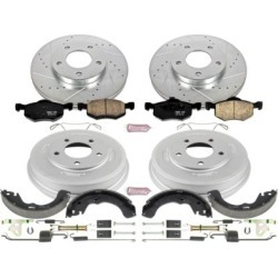2001-2007 Ford Escape Brake Disc And Drum Kit Powerstop Ford Brake Disc And Drum Kit K15209DK
