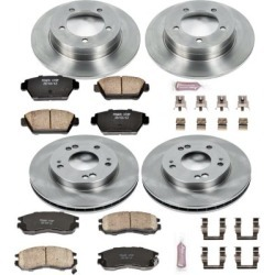 1991-1992 Eagle Talon Brake Disc and Pad Kit Powerstop Eagle Brake Disc and Pad Kit KOE682