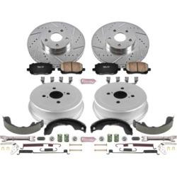 2007-2008 Pontiac Vibe Brake Disc And Drum Kit Powerstop Pontiac Brake Disc And Drum Kit K15220DK