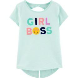 Carters Little Girls Girl Boss T-Shirt