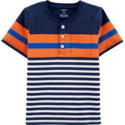 Carters Toddler Boys Striped Henley T-Shirt