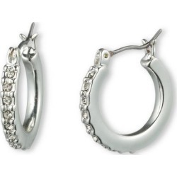 Gloria Vanderbilt Silver Tone Pave Hoop Earrings found on Bargain Bro India from BeallsFlorida for $14.00