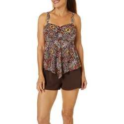 A Shore Fit Womens Paisley Spice Hankercheif Tankini Top found on Bargain Bro India from BeallsFlorida for $50.00