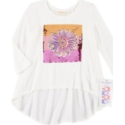 Self Esteem Big Girls Floral Flip Sequin Top & Barrettes found on Bargain Bro India from BeallsFlorida for $19.00