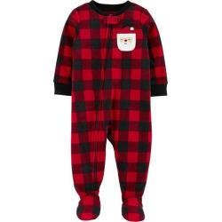 Carters Baby Boys Plaid Santa Snug Fit Footie Pajamas
