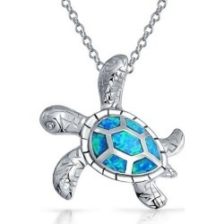BLING Blue Opal Sea Turtle Pendant found on Bargain Bro India from BeallsFlorida for $36.99
