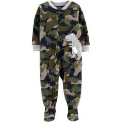 Carters Toddler Boys Camo Dino Snug Fit Footie Pajamas