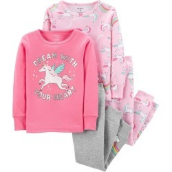 59b9649f603f Carters 2 Pc Giddy Up Its Bedtime Pajama Set Toddler Girls Pink 4T ...