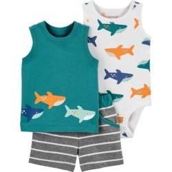 Carters Baby Boys 3-pc. Shark Short Set