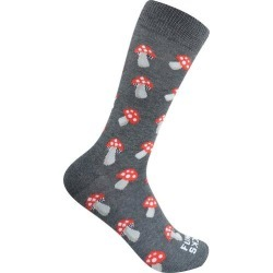 Funky Socks Mens Mushroom Crew Socks