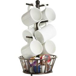 Gourmet Basics by Mikasa Mug Tree With Basket
