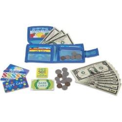 Melissa & Doug Pretend-to-Spend Wallet Set