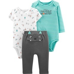 Carters Baby Boys 3-pc. Snuggle Monster Clothing Set