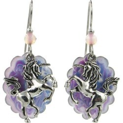 Silver Forest Unicorn Charm Overlay Cloud Earrings found on Bargain Bro India from BeallsFlorida for $28.00