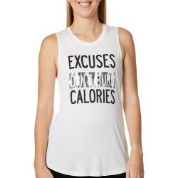Miken Womens Excuses Don't Burn Calories Tank Top