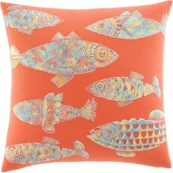 Tommy Bahama Batic Fish 20'' Square Pillow