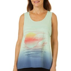 Brisas Womens Tropical Sunset Ombre Tank Top