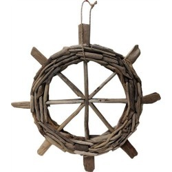 Fancy That Palm Breeze 24'' Driftwood Ship Wheel Decor found on Bargain Bro India from BeallsFlorida for $49.99