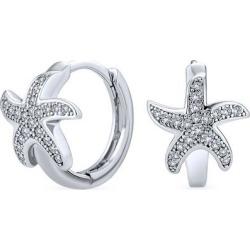 BLING Jewelry Starfish Huggie Hoop Earrings