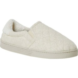 Dearfoams Womens Memory Foam Quilted Closed Back Slippers