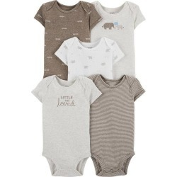 Carters Baby Boys 5-pk. Little And Loved Elephant Bodysuits