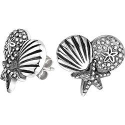 BLING Jewelry Multi Shell Nautical Stud Earrings