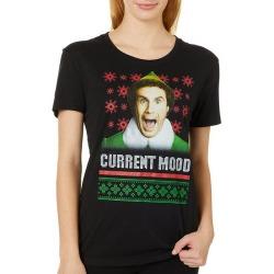 Elf Juniors Current Mood Screen Print T-Shirt By Hybrid