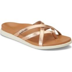 Vionic Womens Daisy Rose Gold Tone Sandals