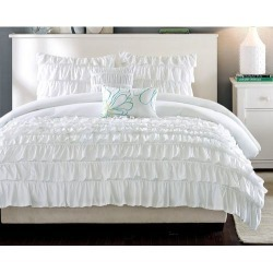 Intelligent Design Waterfall White Comforter Set found on Bargain Bro India from BeallsFlorida for $69.99