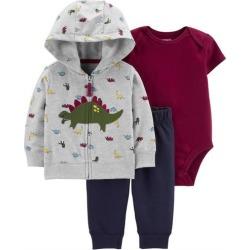Carters Baby Boys 3-pc. Dinosaur Hoodie & Bodysuit Set
