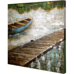 StyleCraft Boat Dock Wooden Slat Panel Wall Art found on Bargain Bro India from BeallsFlorida for $239.99