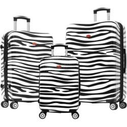 Olympia Luggage Metropolitan Zebra 3-pc. Luggage Set