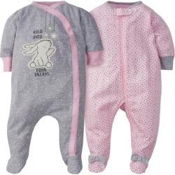 Gerber Baby Girls 2-pc. Bunny Long Sleeve Sleeper Set