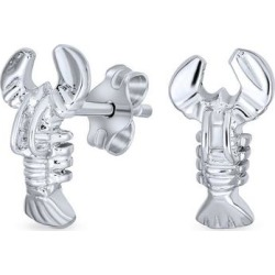 BLING Jewelry Sterling Silver Lobster Earrings