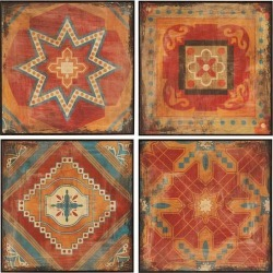 Madison Park Moroccan Tile 4-pc. Wall Art Set