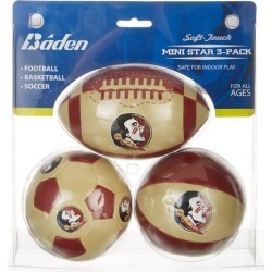 Florida State 3-pk. Mini Soft Football Basketball Soccer Set