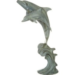 San Pacific Double Dolphin Figurine