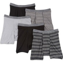 Hanes Mens 5-pk. Stripes & Solid Boxer Briefs found on Bargain Bro India from BeallsFlorida for $39.00