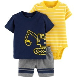 Carters Baby Boys 3-pc. Construction Layette Set