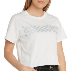 Dickies Juniors Checkered Logo Cropped T-Shirt found on Bargain Bro Philippines from BeallsFlorida for $25.00