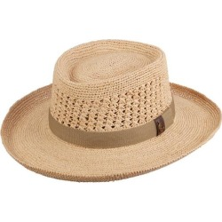 Scala Mens Fine Crochet Raffia Gambler Hat found on Bargain Bro India from BeallsFlorida for $82.99
